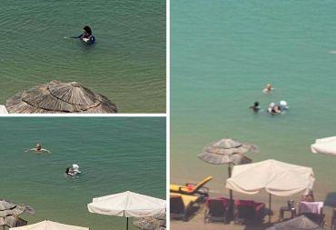 في شاطئ أفاميا (روتانا) اللاذقية: سباحة بالثياب الكاملة (صور)