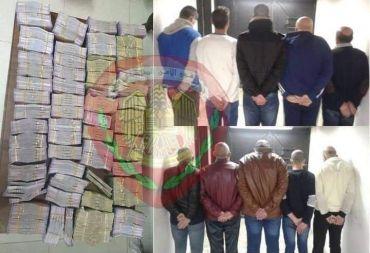 القبض على عشرة أشخاص في دمشق يقومون بتحويل الأموال بطريقة غير قانونية .
