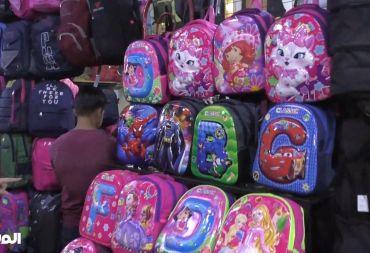 كاميرا المشهد ترصد أسعار الحقائب المدرسية في سوق الخجا بدمشق (فيديو)