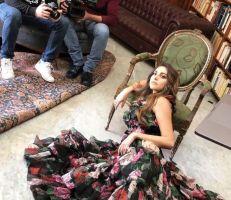 فاليري ابو شقرا بجلسة تصوير