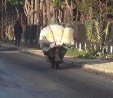 حفاضات الأطفال التركية تهرب على الدراجات النارية إلى المحال التجارية في محافظة اللاذقية(فيديو)