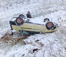 حادثي مرور اليوم في السويداء بسبب الثلوج