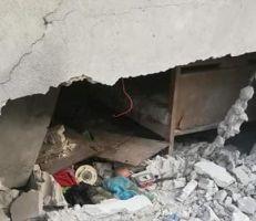 أربع إصابات بقذيفة صاروخية على منزل باللاذقية