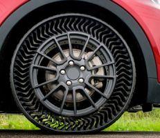 ميشلان وجينرال موتورز تطوران عجلات جديدة غير قابلة للعطب