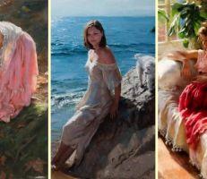 فنان إسباني يحول اللحظات الحميمية لنساء جميلات إلى لوحات الباستيل (صور)