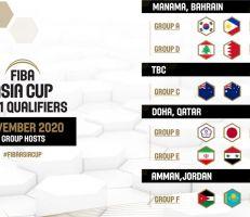 إعلان المدن المستضيفة لنافذة تشرين الثاني من تصفيات كأس آسيا لكرة السلة2021.. ومنتخبنا يلعب بالدوحة