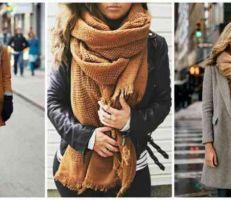 طرق مختلفة لارتداء الوشاح في الشتاء