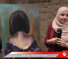 نور صبيح فنانة موهوبة أبدعت بالرسم على الحجارة (فيديو)
