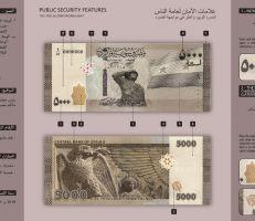 مصرف سورية المركزي يطرح فئة 5000 ليرة سورية للتداول .