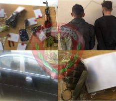 مركز شرطة السيدة زينب يلقي القبض على سارقي سيارات بالجرم المشهود