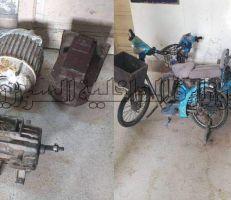 سارق محركات صناعية وآخر يسرق الدراجات الكهربائية بقبضة العدالة في اللاذقية