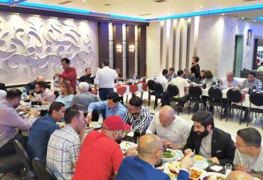 طائفة الأرمن الأرثوذكس تقيم مأدبة إفطار رمضانية .
