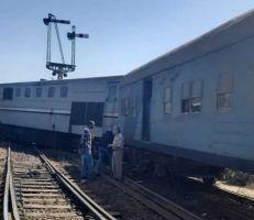 خروج قطار مصري جديد عن القضبان