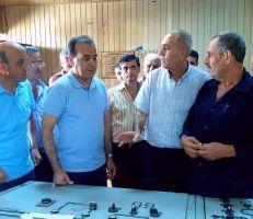 وزير النفط في مصفاة بانياس بعد إعادة إحدى العنفتين المتوقفتين إلى العمل