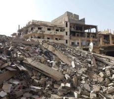 انهيار بناء مؤلف من خمسة طوابق بدير الزور دون تسجيل أضرار بشرية